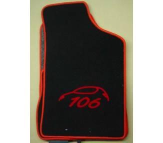 Car carpet for Peugeot 106 jusqu'a 2000