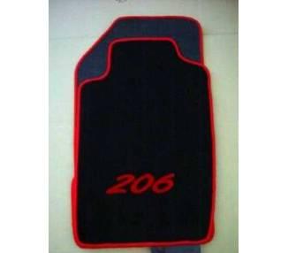 Car carpet for Peugeot 206