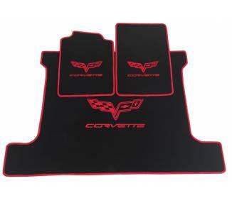 Tapis de sol pour Chevrolet Corvette C6 coupé avec coffre de 2004-2014