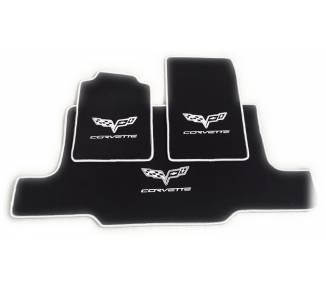 Tapis de sol pour Chevrolet Corvette C6 cabrio avec coffre