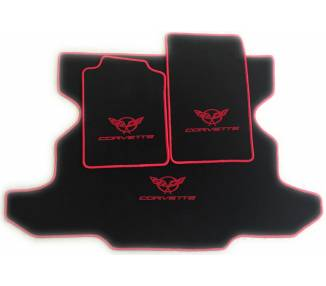Car carpet for Chevrolet Corvette C5 Targa avec coffre