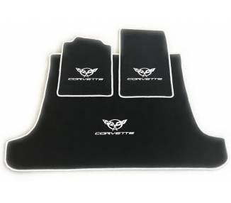 Car carpet for Chevrolet Corvette C5 cabrio avec coffre