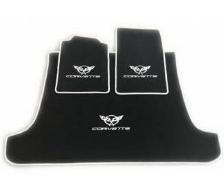 Tapis de sol pour Chevrolet Corvette C5 cabrio avec coffre