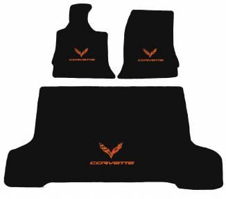 Tapis de sol pour Chevrolet Corvette C7 coupe avec coffre à partir de 2014