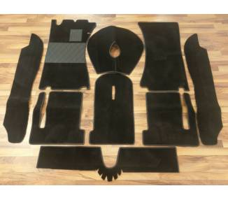 Complete interior carpet kit for Alfa Spider Duetto series 1 from 1966-1969 (only LHD)