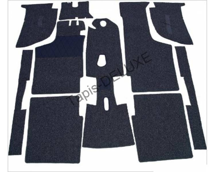 Complete interior carpet kit for BMW 700 LS Coupe from 1959-1965 (only LHD)