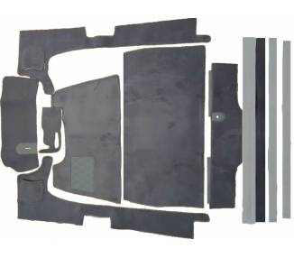 Complete interior carpet kit for Citroën 11 CV Typ BL (only LHD)