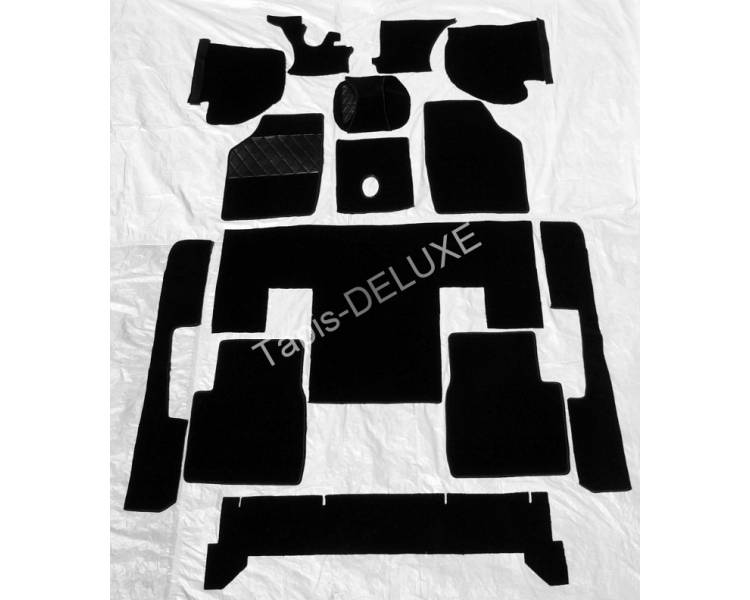 Complete interior carpet kit for NSU RO 80 since 06/1973- (only LHD)