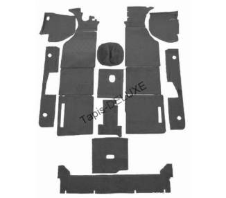 Complete interior carpet kit for NSU RO 80 -05/1973 (only LHD)