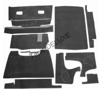 Complete interior carpet kit for Citroën 11 CV Typ BN + 15CV (only LHD)