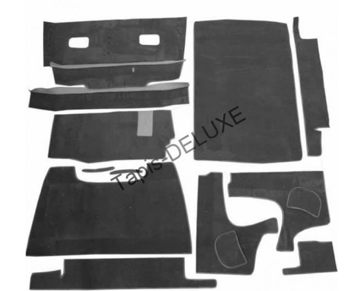 Complete interior carpet kit for Citroën 11 CV Typ BN + 15CV (only LHD)