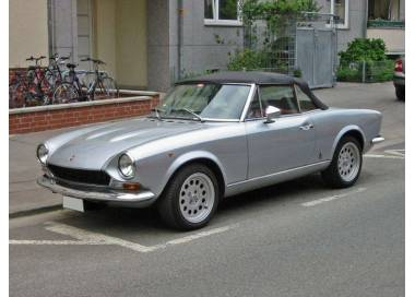 Fiat 124 Spider from 1966-1985 (only LHD)