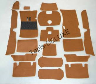 Complete interior carpet kit for Fiat 2300 coupé S from 1961–1968 (only LHD)