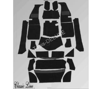 Complete interior carpet kit for MG A 1955-1962 (only LHD)