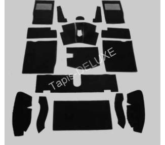 Complete interior carpet kit for MG Midget Mark I-III from 1961-1977 (only LHD)