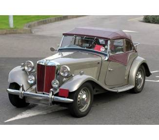 Complete interior carpet kit for MG TD from 1950–1953 (only LHD)