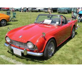 Complete interior carpet kit for Triumph TR4 from 1961-1965 (only LHD)