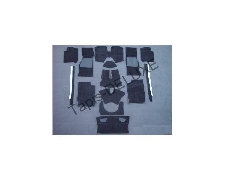 Complete interior carpet kit for Triumph TR4A / TR250 / TR5 / from TR6 1965-1976 (only LHD)