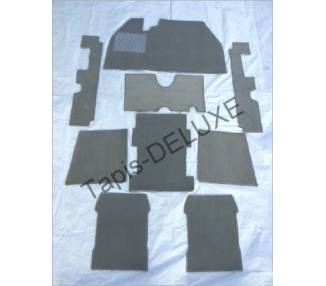 Complete interior carpet kit for VW Käfer mexico (only LHD)