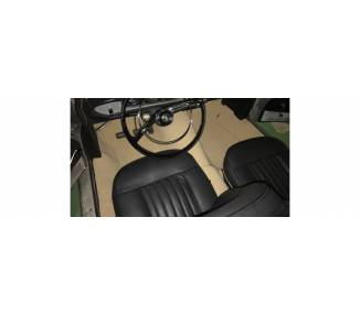 Complete interior carpet kit for Peugeot 404 coupé/cabriolet from 1960-1975 (only LHD)
