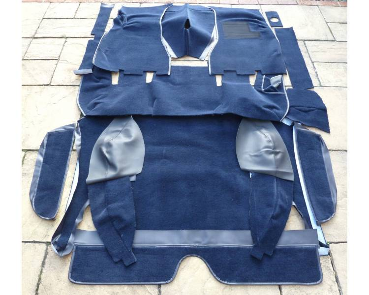 Complete interior carpet kit for Volvo P1800 ES Kombi from 1971-1973 (only LHD)