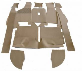 Complete interior carpet kit for Audi 100/200 type 43 from 1976-1982 (only LHD)