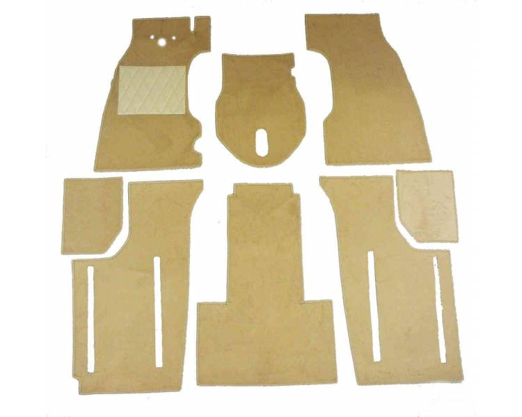Complete interior carpet kit for Fiat Topolino B from 1948-1949 (only LHD)