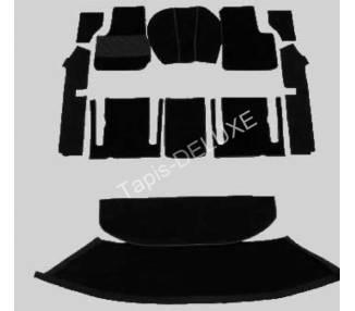 Moquette de sol pour Fiat 1200/1500 Spider sans barre (chapeau) 1959-1966