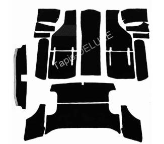Complete interior carpet kit for Fiat 850 Spider with soft top case from 1963-1973 (only LHD)