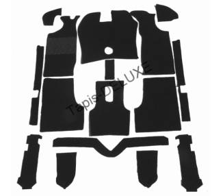 Complete interior carpet kit for Ford Taunus TC from 1970-1976 (only LHD)