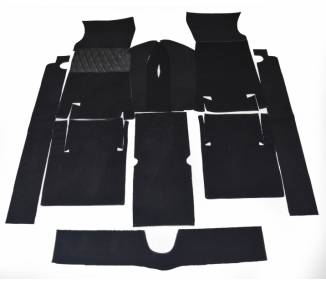 Complete interior carpet kit for Fiat 124 Sport coupé 1967-1972 (only LHD)