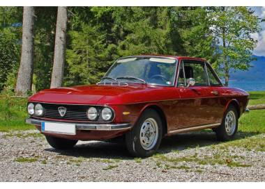 Lancia Fulvia coupé series 2 from 1969-1976 trunk carpet (only LHD)