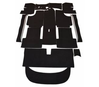 Complete interior carpet kit for NSU Sport-Prinz from 1959-1967 (only LHD)