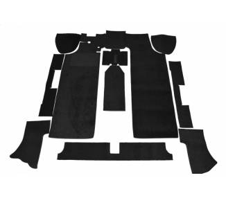 Complete interior carpet kit for NSU 110 / 110 S / 110 SC / 1200 / 1200C from 1965-1973 (only LHD)