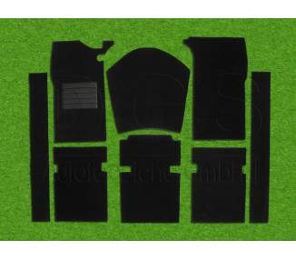 Complete interior carpet kit for Peugeot 404 limousine from 1960-1975 (only LHD)