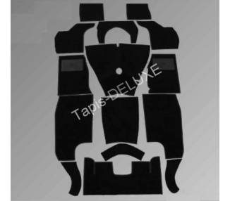 Complete interior carpet kit for Triumph TR3a from 1955-1962 chassis number from 60.001 (only LHD)