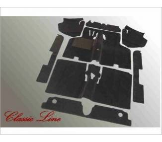 Complete interior carpet kit for VW 1500/1600 type 3 08/1972-07/1973 (only LHD)