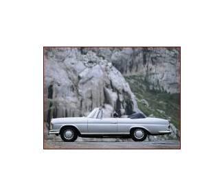 Moquette de sol pour Mercedes-Benz W111 Cabrio radiateur plat 1968-1972