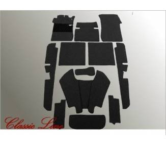 Complete interior carpet kit for Mercedes-Benz W111 cabriolet high radiator from 1959-1968 (only LHD)