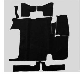 Trunk carpet for Mercedes-Benz Pagode SL W113 with standing spare wheel from 1963-1971 (only LHD)