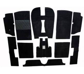 Complete interior carpet kit for Peugeot 504 cabriolet from 1968-1984 (only LHD)