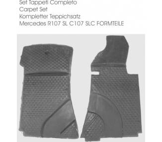 Complete interior carpet kit for Mercedes-Benz R107 SL 1971–1989