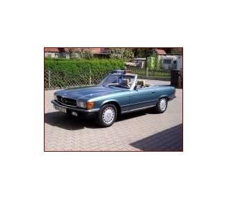 Klassik SCHWARZ Fußmatten Mercedes SL R107 Cabrio 1971-1989