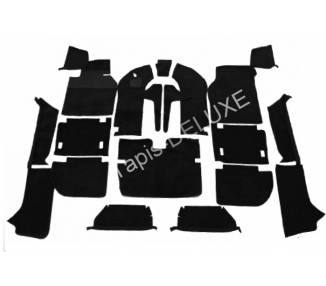 Complete interior carpet kit for Porsche 924 from 1976-1988 / Porsche 944 from 1981-1991 with trunk carpet (only LHD)