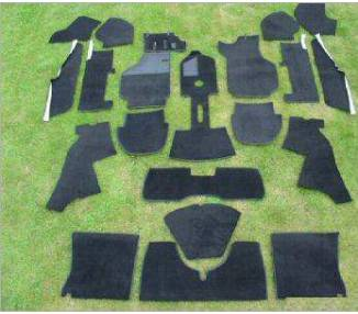 Complete interior carpet kit for Porsche 911/912 coupé F series long wheel base from 1969-1973 (only LHD)