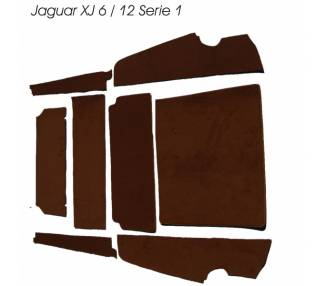 Trunk carpet for Jaguar XJ 6/12 series 1 (only LHD)