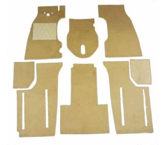 Complete interior carpet kit for Fiat Topolino C from 1949-1954 (only LHD)