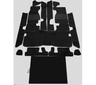 Complete interior carpet kit for Maserati Ghibli from 1966-1973 (only LHD)