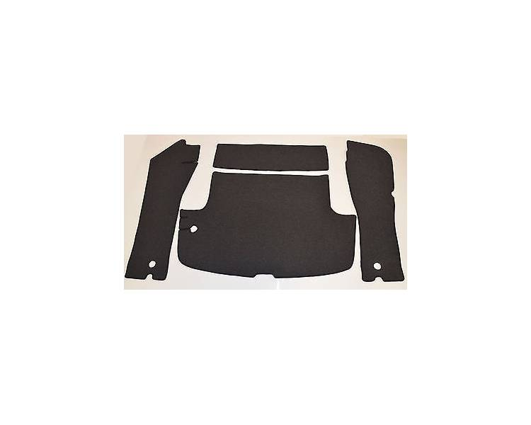 Trunk carpet for Volvo P1800S Coupé with hole for the passage of the tank pipe 1963-1969