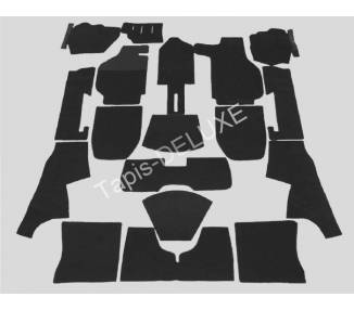 Complete interior carpet kit for Porsche 911/912 Coupé model F short wheelbase 1965-1968